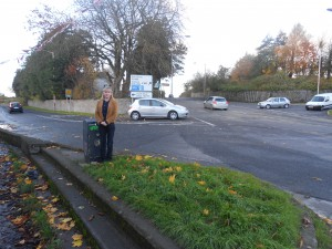 Cllr Munster at the busy junction