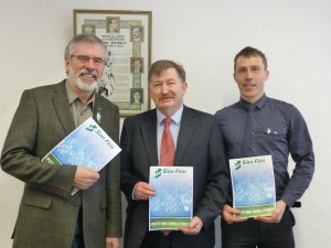 Gerry Adams TD, Cllr Pearse McGeough & JJ Quigley