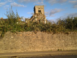 The deterioration of St Mary's Abbey, Drogheda