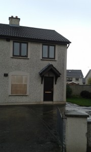 Boarded up home at Rowan Heights, Drogheda