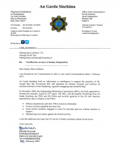 SF Gerry letter from Garda Commissioner