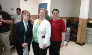Rita O'Hare, Mary Hogan (Nation President LAOH) and Edel Corrigan