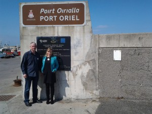 Cllrs Tom Cunningham & Imelda Munster at Clogherhead Harbour
