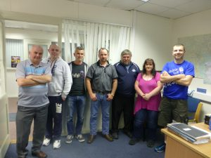 Some of the members of the new Cumann with Seamus Drumm (far left)